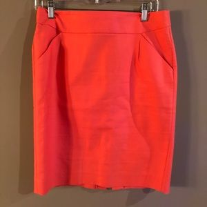 J. Crew Pink Pencil Skirt Size 8
